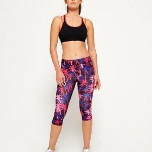 Superdry Core Gym Caprileggingsit Vaaleanpunainen