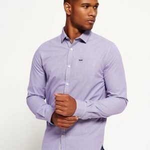 Superdry Cut Away Collar Paita Purppura