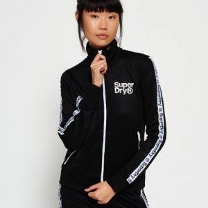 Superdry Fashion Fitness Tricot Verryttelytakki Musta