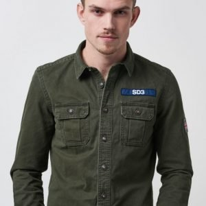 Superdry Flaggship Overshirt Army