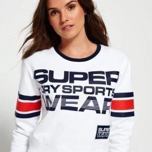 Superdry Lyhyt Collegepusero Valkoinen