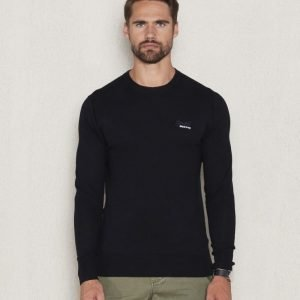 Superdry Orange Label Crew Neck Black