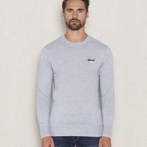 Superdry Orange Label Crew Neck Egret Grey