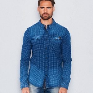 Superdry Roster Denim Shirt Indigo Dubby