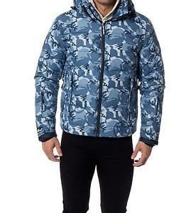 Superdry Snow Ski Command Utility Jacket Blue Ice Camo Men