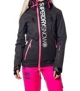 Superdry Snow Super G Multi Jacket Scratch Black/Fluro Pink