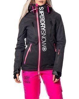 Superdry Snow Super G Multi Jacket Scratch Black/Fluro Pink