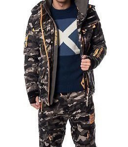 Superdry Snow Ultimate Snow Service Jacket Black Ice Camo