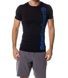 Superdry Sport Gym Base Logo Runner Tee Black