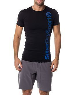 Superdry Sport Gym Base Logo Runner Tee Black