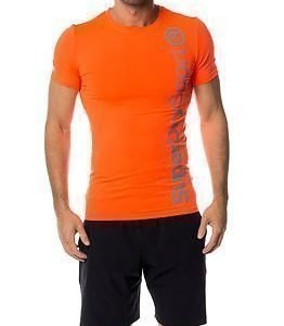 Superdry Sport Gym Base Logo Runner Tee Fluro Orange