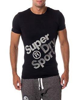 Superdry Sport Gym Base Sprint Runner Tee Black