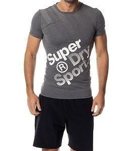 Superdry Sport Gym Base Sprint Runner Tee Grey Grit
