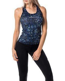 Superdry Sport Gym Core Print Vest Blue Textural