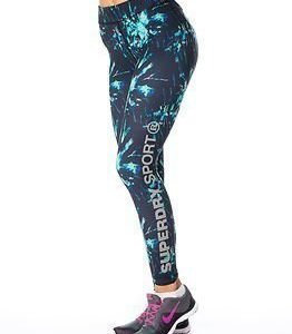 Superdry Sport Gym Logo Legging Electric Storm