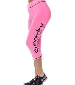 Superdry Sport Gym Running-Capri Fluro Pink