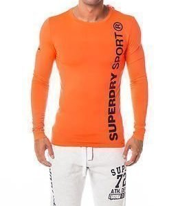 Superdry Sport Gym Sport Runner Top Fluro Orange