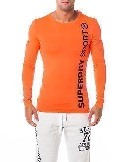 Superdry Sport Gym Sport Runner Top Fluro Orange