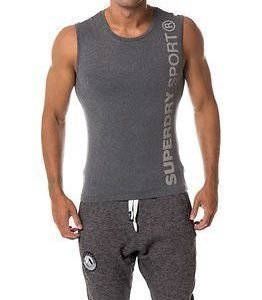 Superdry Sport Gym Sport Runner Vest Grey Grit