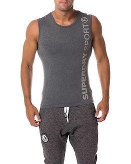 Superdry Sport Gym Sport Runner Vest Grey Grit