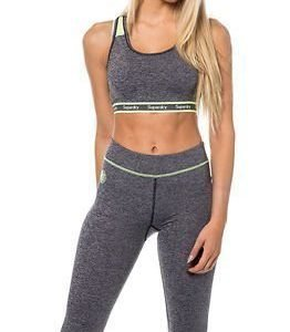 Superdry Sport Gym Sports-Bra Charcoal Grit