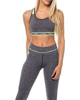 Superdry Sport Gym Sports-Bra Charcoal Grit