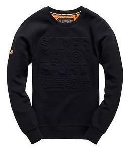 Superdry Sport Gym Tech Embosesed Crew Black