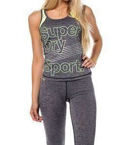 Superdry Sport Gym Vest Charcoal Grit