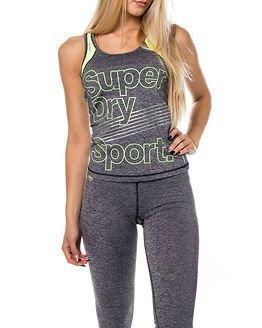 Superdry Sport Gym Vest Charcoal Grit