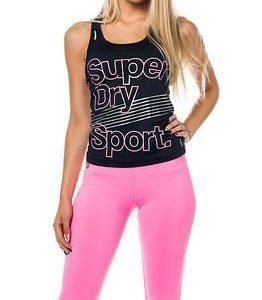 Superdry Sport Gym Vest Eclipse Navy