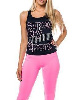 Superdry Sport Gym Vest Eclipse Navy