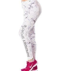 Superdry Sport Superdry Core Gym Legging White Python