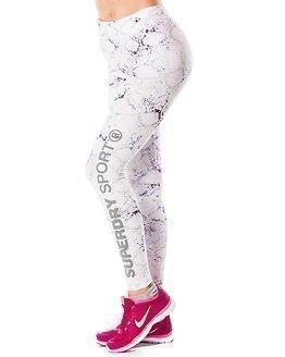 Superdry Sport Superdry Core Gym Legging White Python