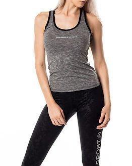 Superdry Sport Superdry Core Gym Vest Speckle Charcoal