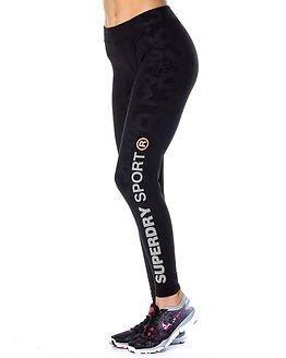 Superdry Sport Superdry Gym Logo Legging Black Print