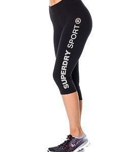 Superdry Sport Superdry Gym Sprint Capri Black