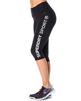 Superdry Sport Superdry Gym Sprint Capri Black Print