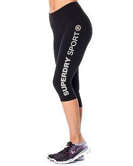 Superdry Sport Superdry Gym Sprint Capri Black