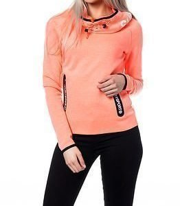 Superdry Sport Superdry Gym Tech Cowl Hood Fluro Coral Grit