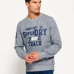 Superdry Trackster Collegepusero Vaaleansininen