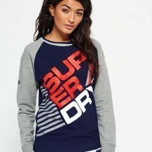 Superdry Winter Sports Collegepusero Harmaa