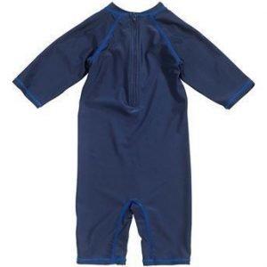 Superman UV- puku Tummansininen