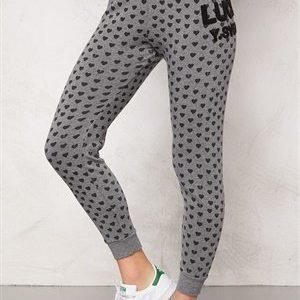Svea Sweat Pants 671 Grey Heart Print