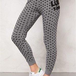 Svea Sweat Pants 671 Grey Heart Print