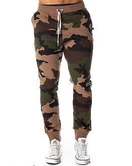 Sweet Pants Loose Print Camouflage Beige