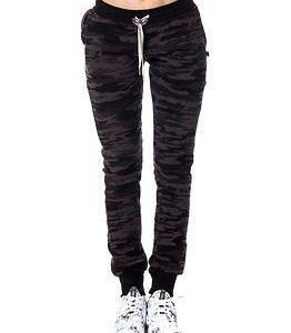 Sweet Pants Slim Print Camouflage Black