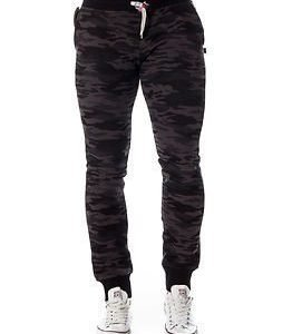 Sweet Pants Slim Print Camouflage Black