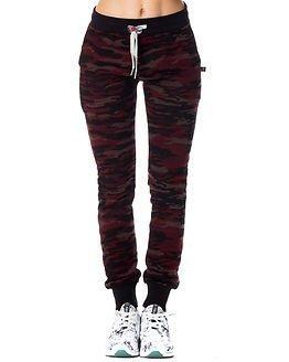 Sweet Pants Slim Print Camouflage Bordeaux