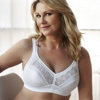 Swegmark Cotton Star Soft Bra White