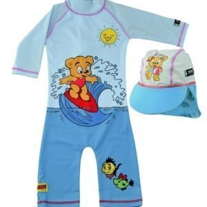 Swimpy UV-asu+hattu Bamse Blue